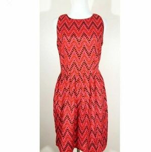 3/$25 Red and Pink Chevron Patterned Dress